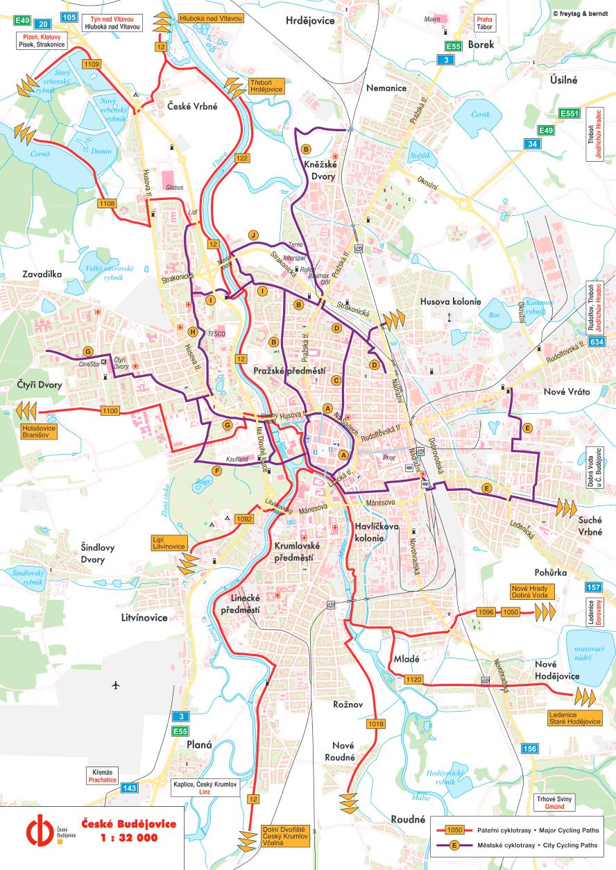 cyklostezka městem české budějovice