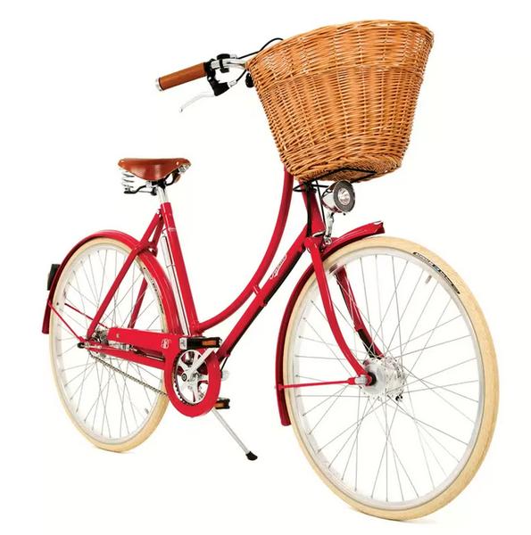 Městké kolo Pashley BRITANNIA 8 rychlostí - červená - Kliknutím zobrazíte detail obrázku.