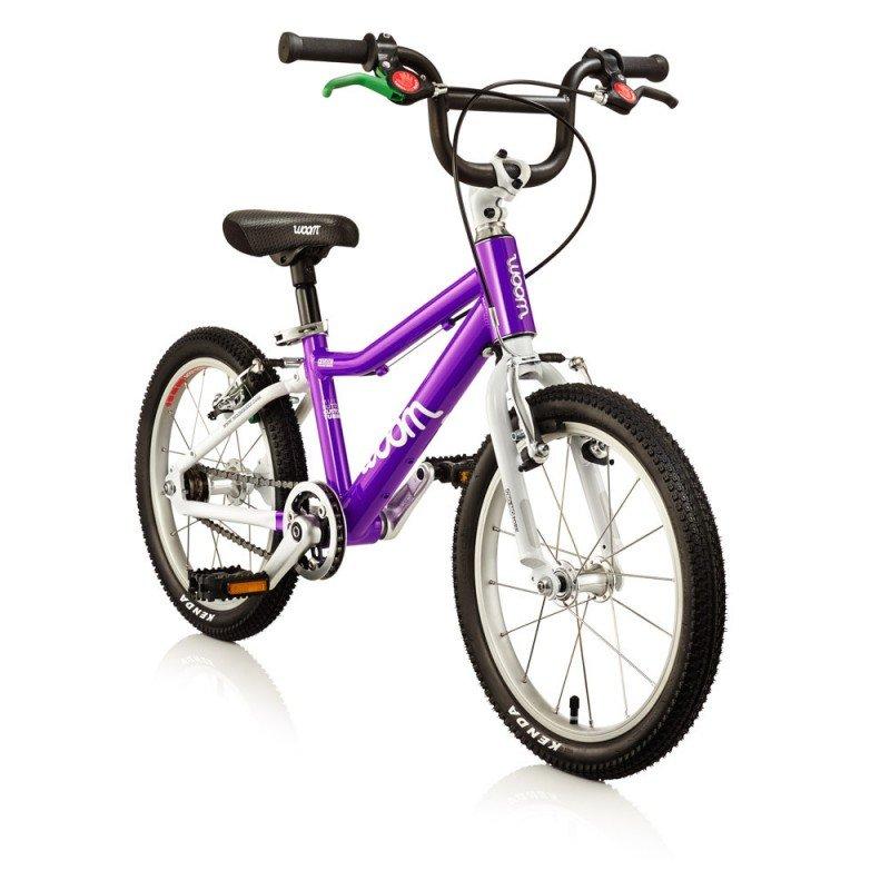 Dětské lehké kolo WOOM 3 lehké dětské kolo pro děti ve věku 4-6 let BARVA Fialová